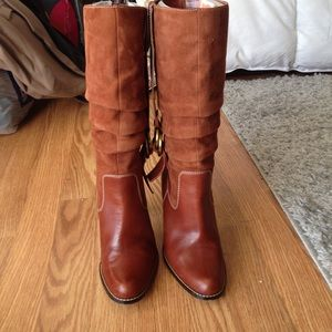 Leather boots by Joan & David  size 6 color brown